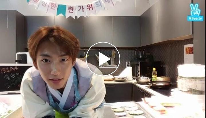 "[V LIVE] B1A4 공찬의 ""한가위 쿡방"" Cooking for Chuseok!"