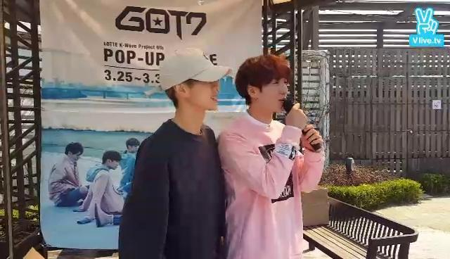 GOT7이 팝업스토어에 떴다!!!