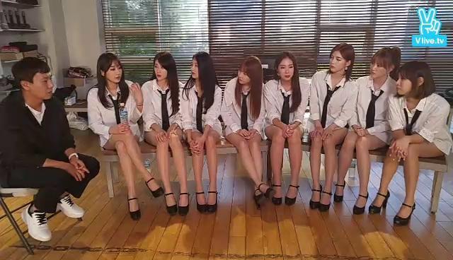 [9MUSES] Mnet 음악의신2 촬영 현장