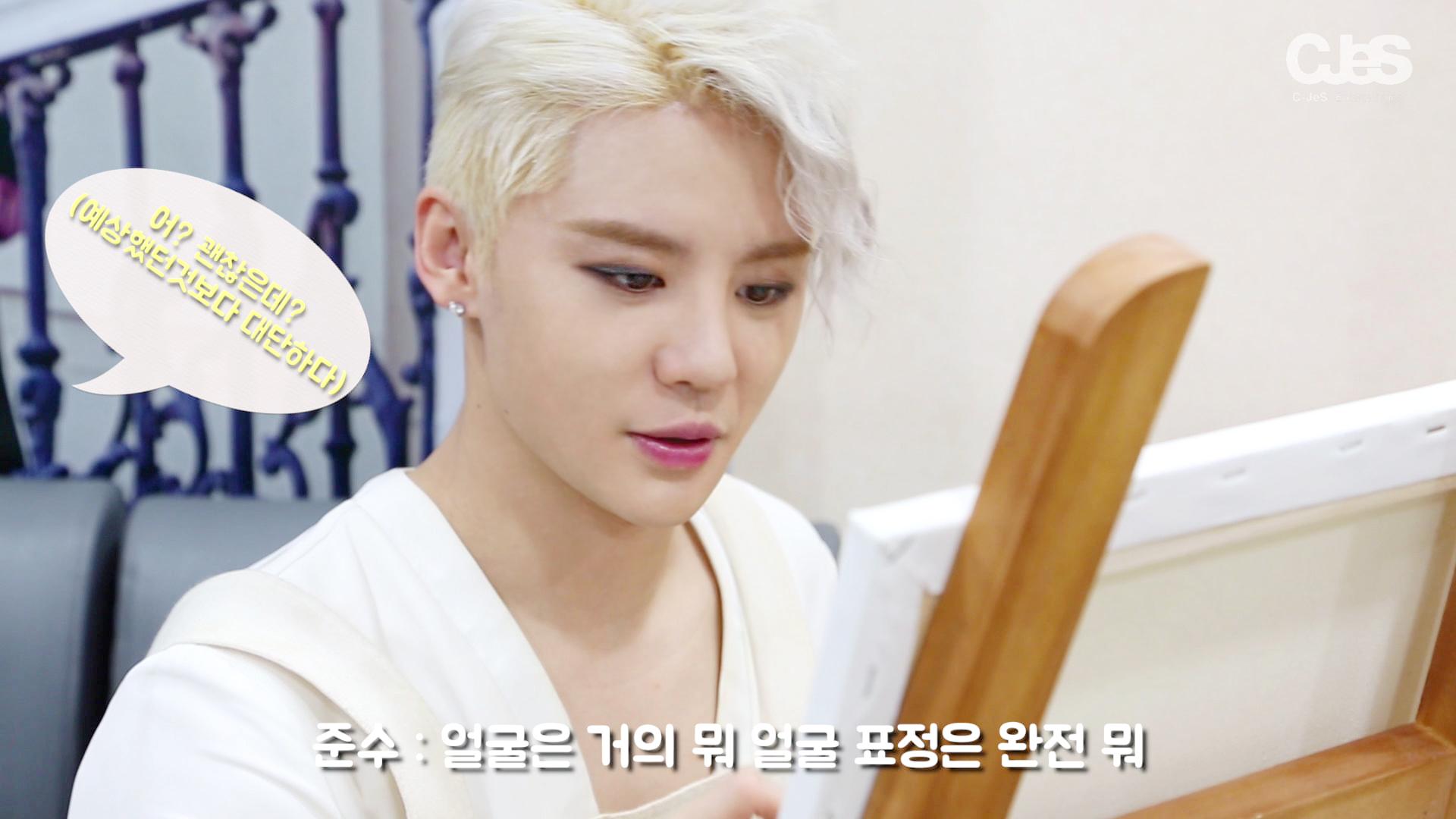 김준수 - '도리안 그레이'사생대회! 초상화 그리기