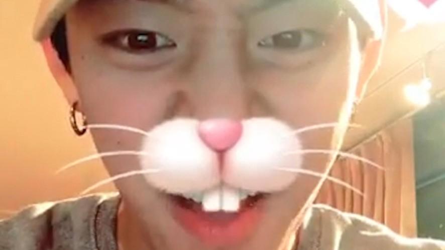[B.A.P] 새 필터가 넘나 재밌는 대니 (DaeHyun testing new filters)