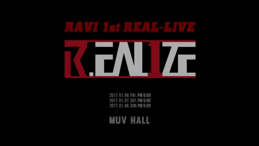 RAVI 1st REAL-LIVE R.EAL1ZE INVITATION
