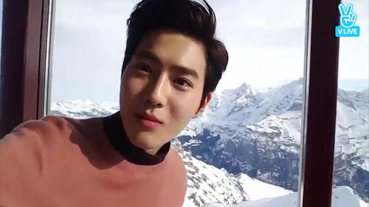 [EXO] 다시보는 스윗한 수호오빠의 스위스방송🐰  (Sweety Suho in Switzerland)