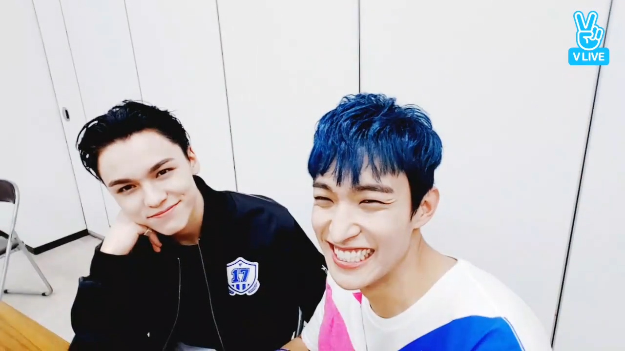 [SEVENTEEN] 뽀뽀쟁이들의 한솔석민이 생일축하💋 🎉  (Happy Birthday to DK&VERNON!)
