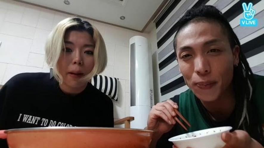 [제이블랙&마리] LIVE 야식 요리먹방♡