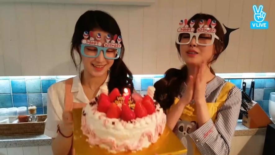 [gugudan] 감동적인 미미표 하나 생일상🍲 (Mimi cooking for Hana)