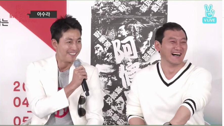 [REPLAY] 김성수 감독 X 정우성 X 정만식, 전주에서 다시 뭉친 <아수라>팀 '<Asura> MovieTalk LIVE'