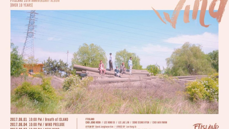FTISLAND 10TH ANNIVERSARY ALBUM 『OVER 10 YEARS』 PIN THE FLAG #2_Wind Moving Poster