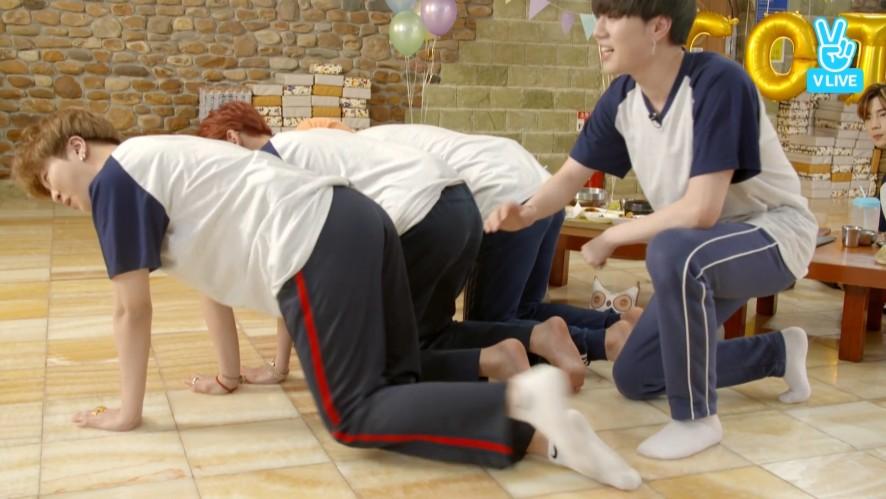 [GOT7] 미역국 텐션 갓세븐의 힛 더 엉덩이즈🙌 (GOT7's 3 million followers V LIVE)