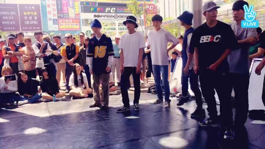 댄서들의 야외 연습 '위켄드스탑'