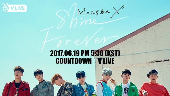 "[MONSTA X] 1ST ALBUM REPACKAGE ""SHINE FOREVER"" COUNTDOWN V LIVE"