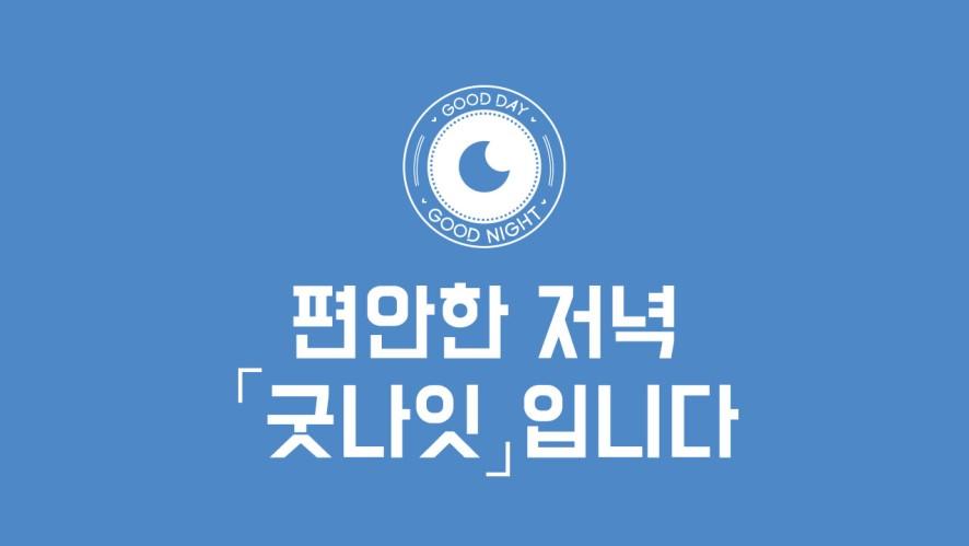 [GOOD DAY(굿데이)] 편안한 저녁 🌙 「굿나잇」입니다 ①
