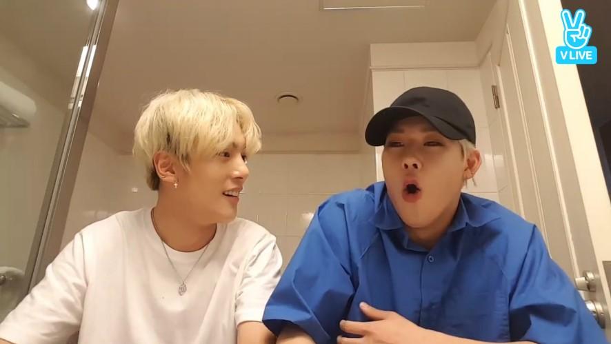 [MONSTA X] 화장실에서 듣는 주꿀이의 귀신 느낀 썰👻 (MinHyuk&JooHeon talking about ghost in the bathroom)
