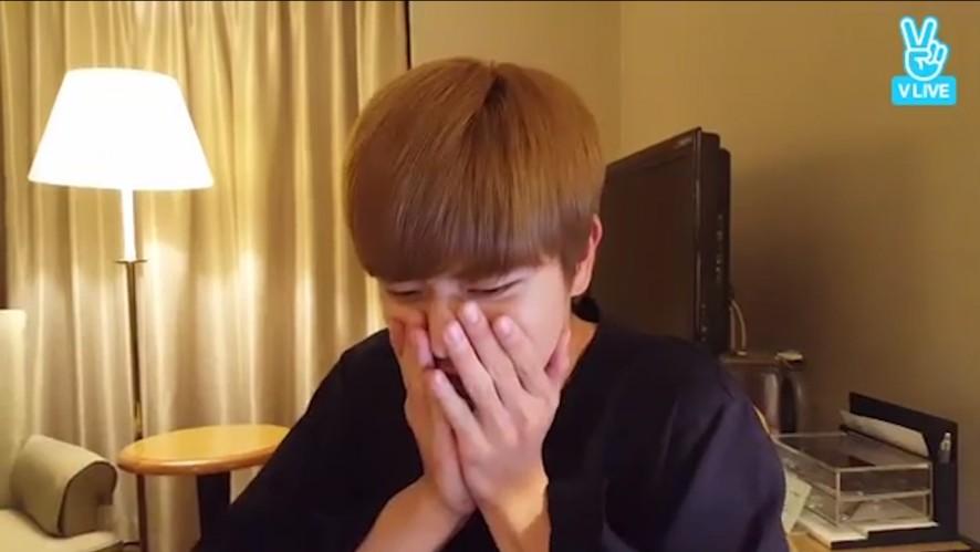 [BTOB] 깜찍발랄귀염둥이 성재야 노래선물 고망💙 (Sungjae talking with fans)