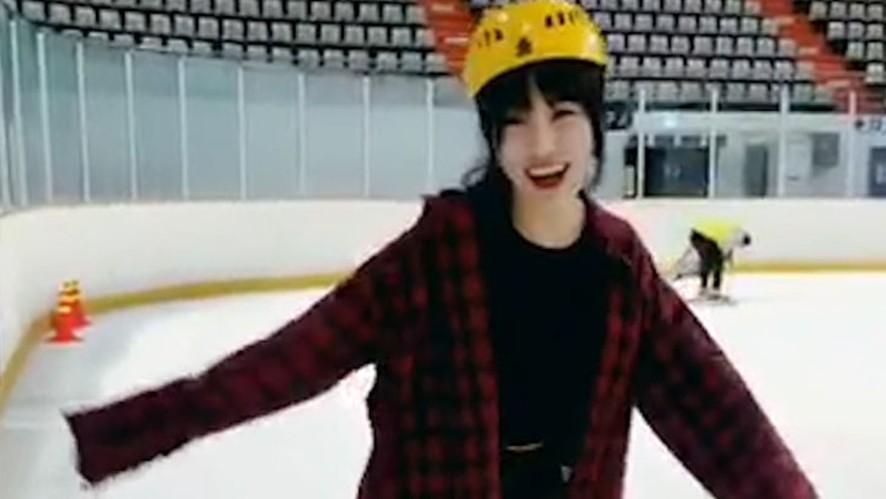 [GFRIEND] 아이스링크에 등장한 일산피겨요정님⛸❄️(Yuju is good at skating)