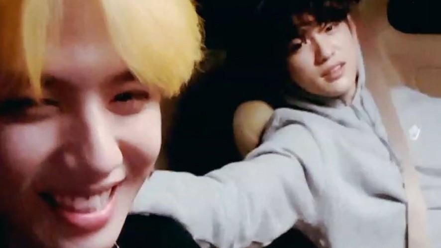 [GOT7] 녕긔탱긔와 겸친자의 벤노래방🎤🎶 (JINYOUNG&YUGYEOM singing in the van)