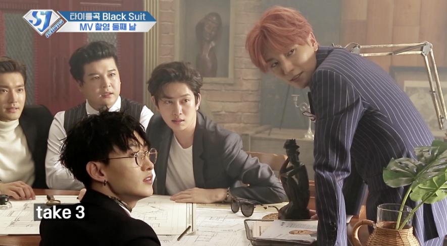 슈주 리턴즈 E40- [Black Suit] 뮤직비디오 촬영4