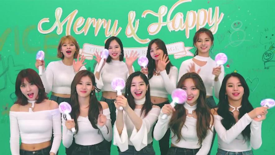 """TWICE(트와이스) """"Merry & Happy"""" 응원법 from TWICE"""