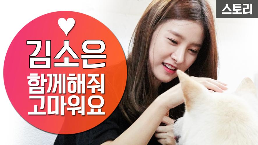 김소은 유기동물 기부 봉사활동! 함께해줘 고마워요! [세이브펫챌린지]
