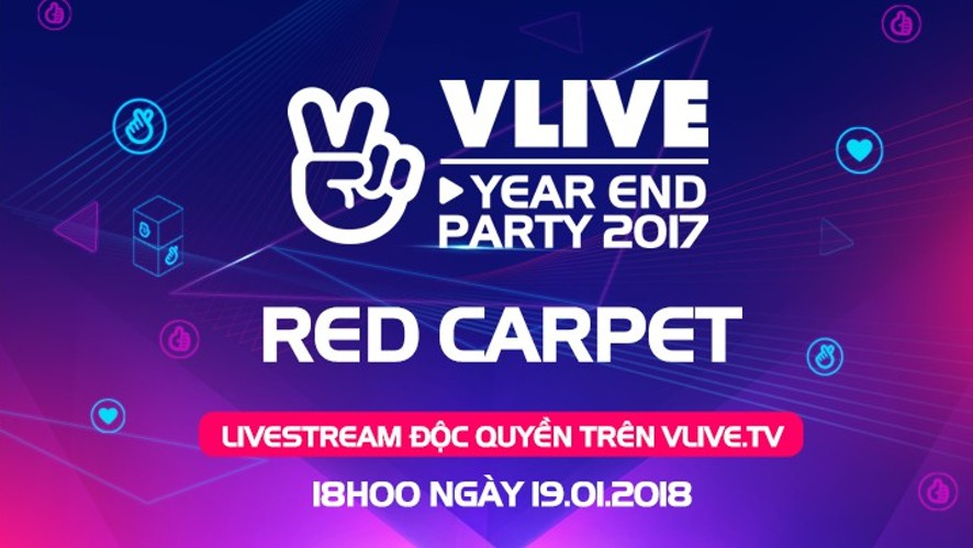 V LIVE YEAR END PARTY 2017 - Red Carpet