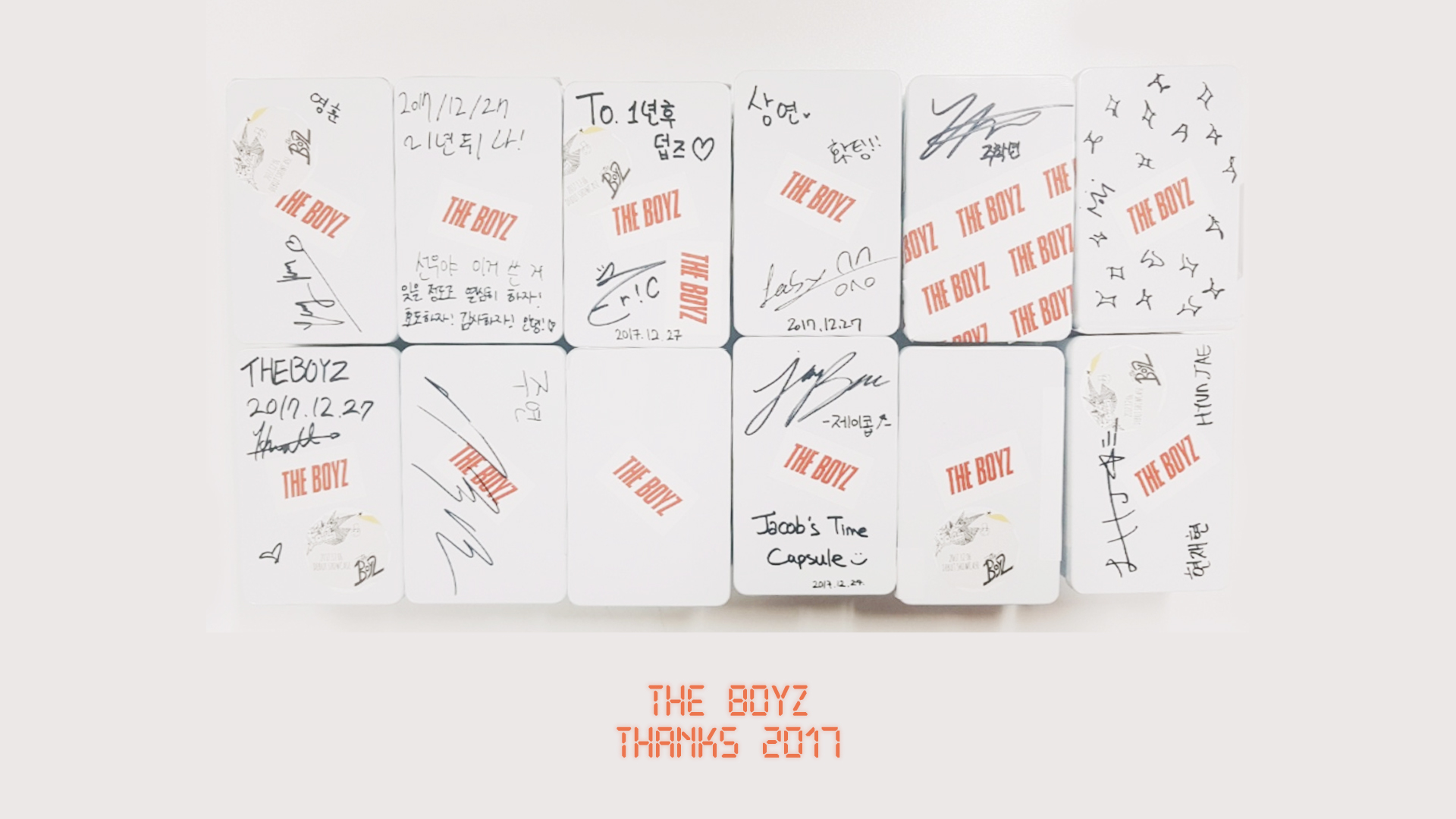 THE BOYZ 'Thanks 2017'