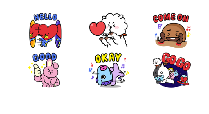 Stiker Grand Max Pick Up >> Bt21 Stickers Png The Stickers
