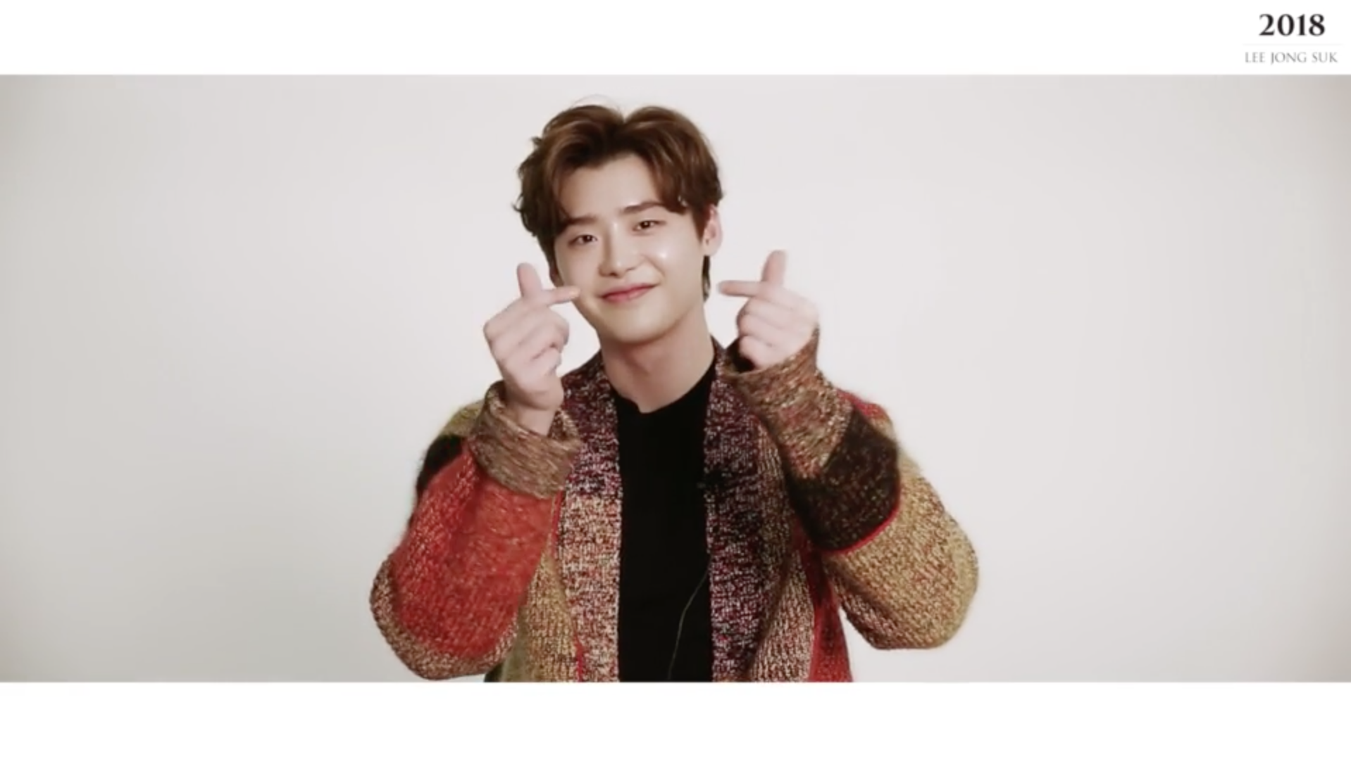 LEE JONG SUK - 2018 WELCOMING COLLECTION