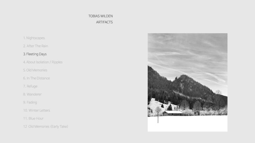 Tobias Wilden(토비아스 빌덴)의 첫 피아노 연주 앨범 [Artifacts] 전곡 재생