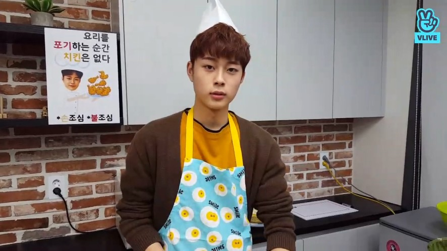 [YOO SEONHO] 서노의 우당탕탕 치킨(없을뻔한)보끔밥 만들기🍳 (SEONHO cooking chicken fried rice)
