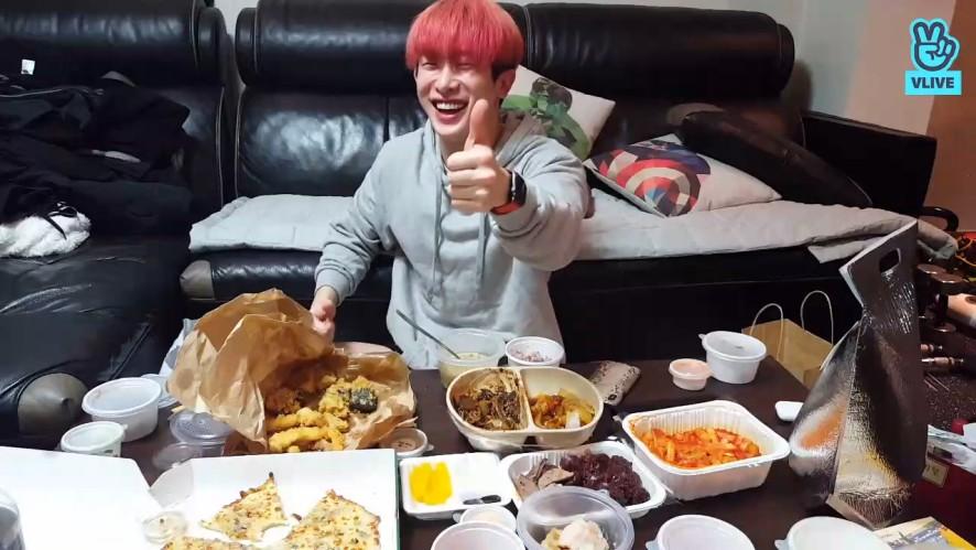 [MONSTA X] 띵동x514❗️ 원호야 301첩 반상 길만 걸어💓 (Wonho's alone eating show)