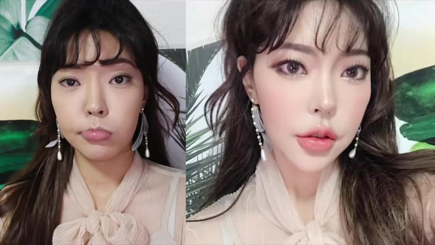 90초 뒷트임 앞트임 메이크업으로 인스타 셀피각! SNS Selfie makeup