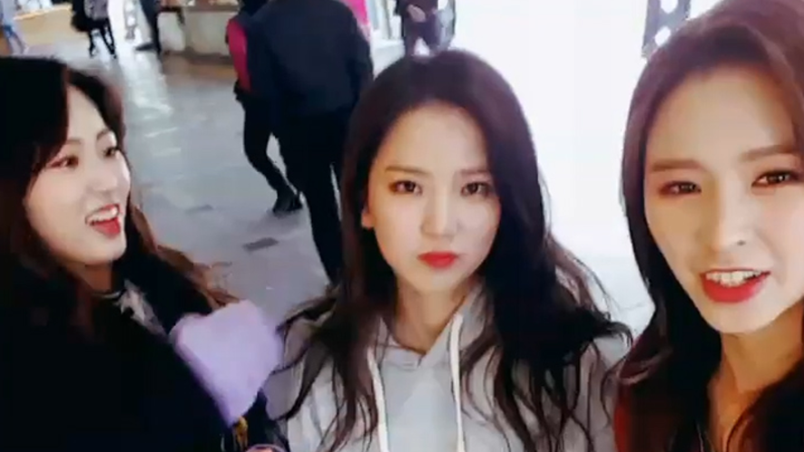 [CLC] 칯순이들의 후이즈막내❓ in 휴게소❕ (CLC in the rest stop)