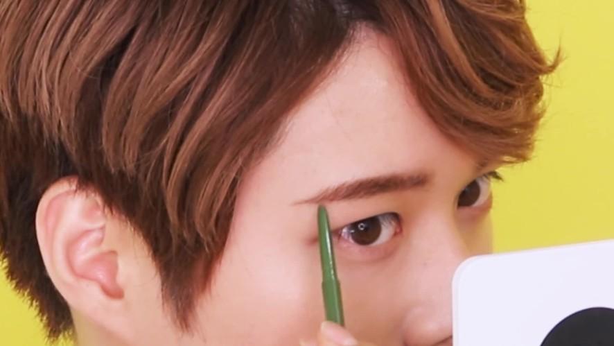 [1분팁]눈썹을 그려보자!_남자셀프눈썹 : 한요 Let's draw eyebrows!_ Self eyebrows for men : HANYO