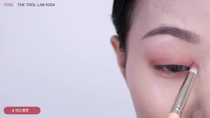 [1분팁] 데일리 버건디 무쌍 메이크업 Daily burgundy single eyelid make-up
