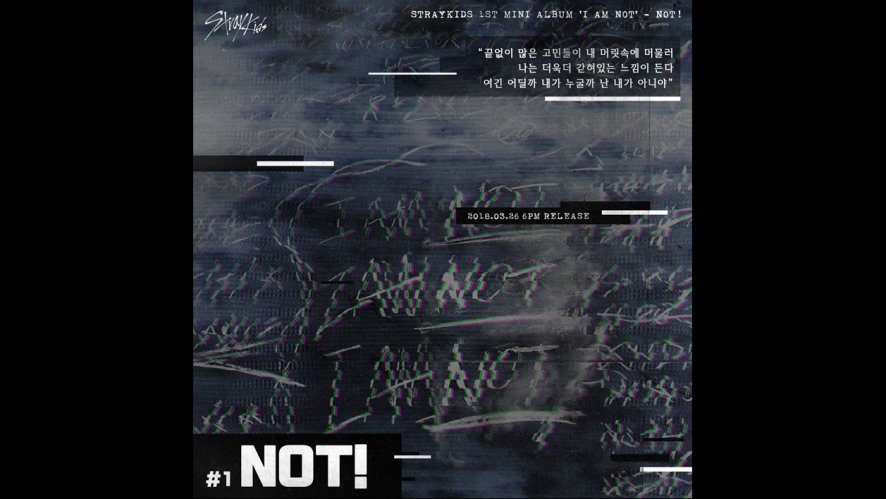 "Stray Kids(스트레이 키즈) ""I am NOT"" Inst. Lyric Card 1 ""NOT!"""