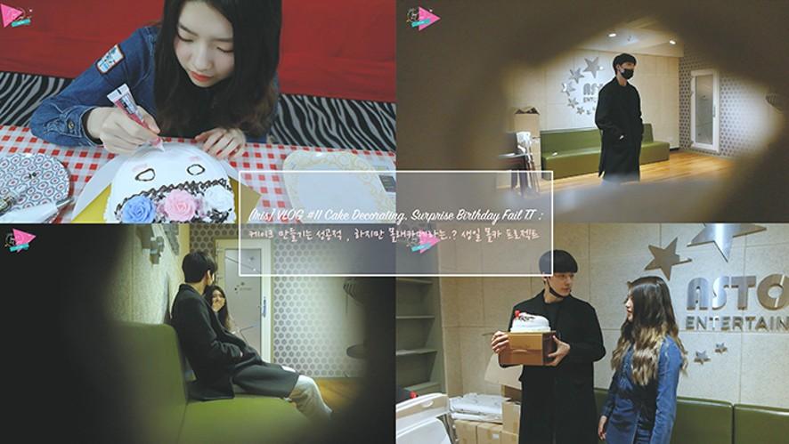 [Iris] VLOG #11 Cake Decorating, Surprise Birthday Fail  :  케이크 만들기는 성공적 , 하지만 몰래카메라는..? 생일 몰카 프로젝트