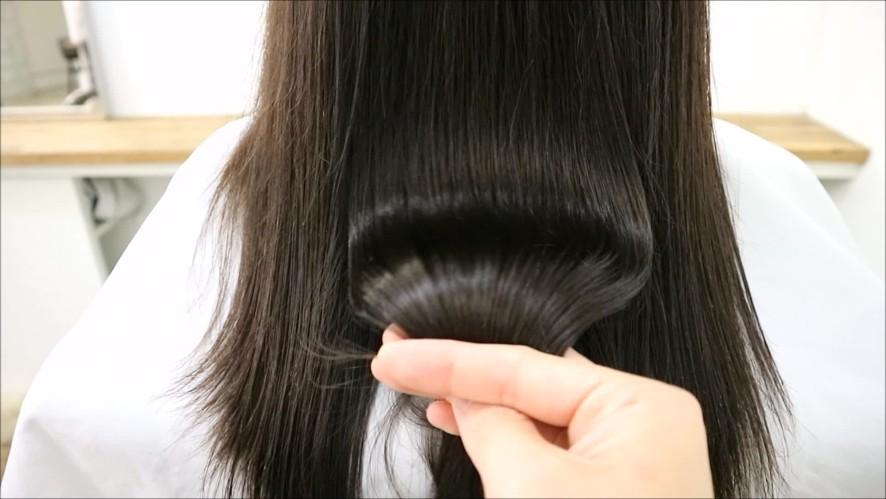 Healthy salon hair treatment care at home