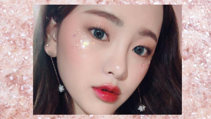 [EMMA BEAUTY 엠마뷰티] 3월 신상으로 해본 인어공주st 글리터 메이크업 see mermaid princess st Glitter Makeup