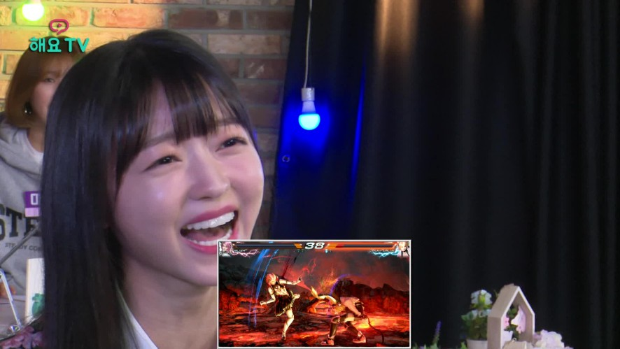 [오마이걸]역대급 철권 게임, 아린 vs 유아, 철권 이후 유아에게 새 별명! @해요TV 20180412