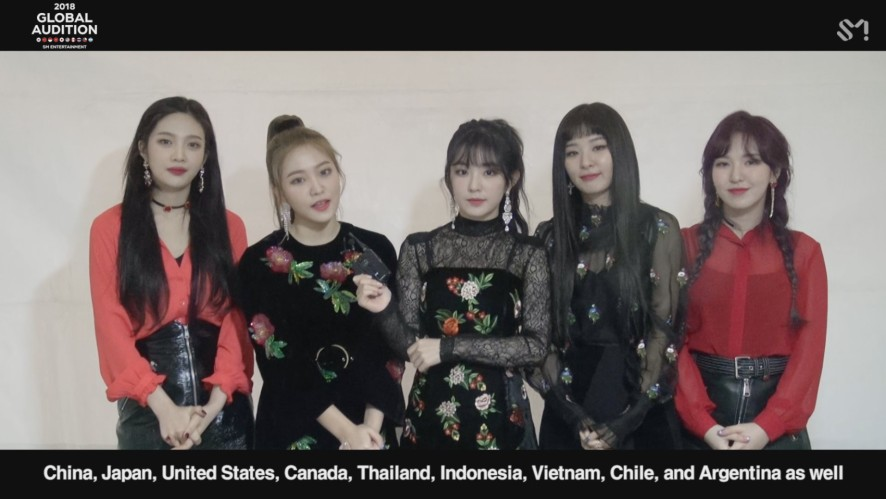 [MESSAGE FROM. Red Velvet] 2018 SM GLOBAL AUDITION