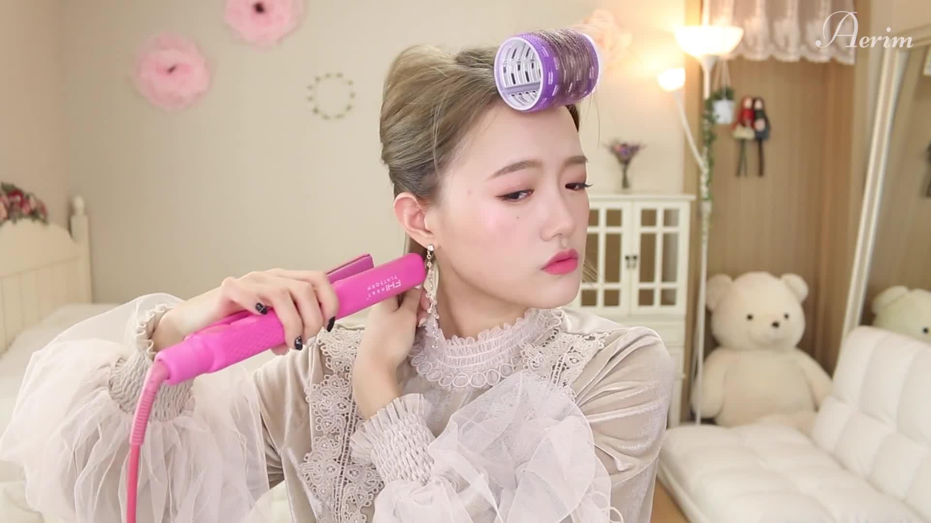 [HAIR] 매일하는 자연스러운 S컬 단발 고데기 feat.앞머리 자연스럽게 넘기는법!