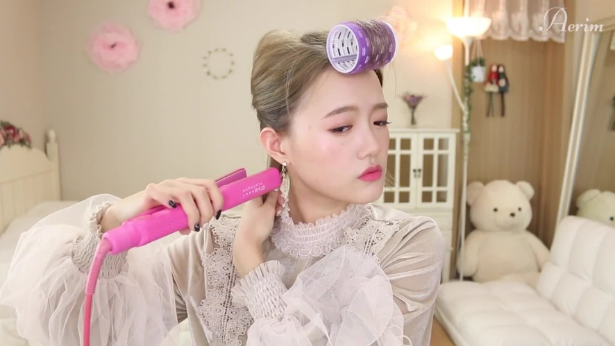 [HAIR] 매일하는 자연스러운 S컬 단발 고데기 feat.앞머리 자연스럽게 넘기는법! Using a curling iron for a natural, everday S-curl