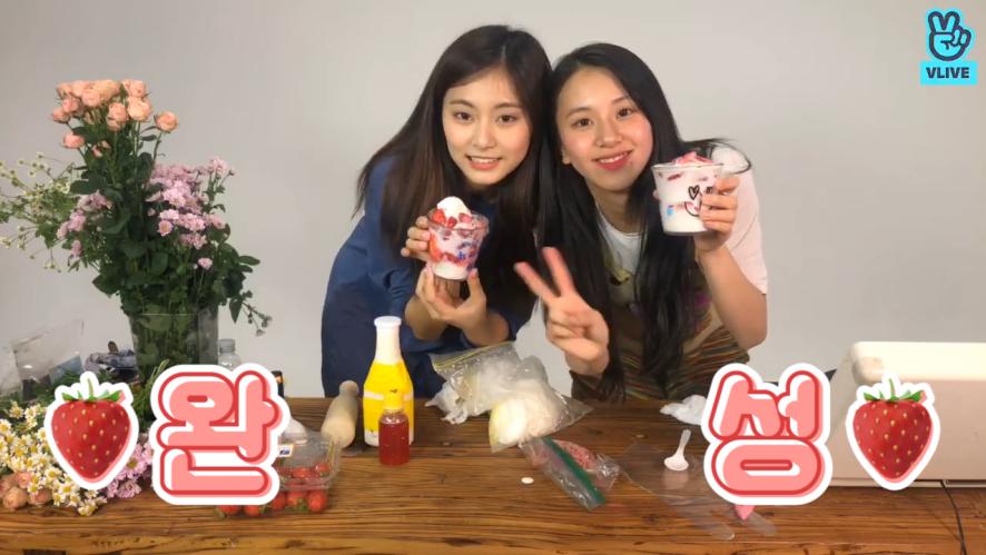 [TWICE] 🍓딸기곤듀님🍓의 딸기농장에 놀러온 쯔뭉(feat.강철얼음) (Strawberry princess Chaeyoung's strawberry farm)