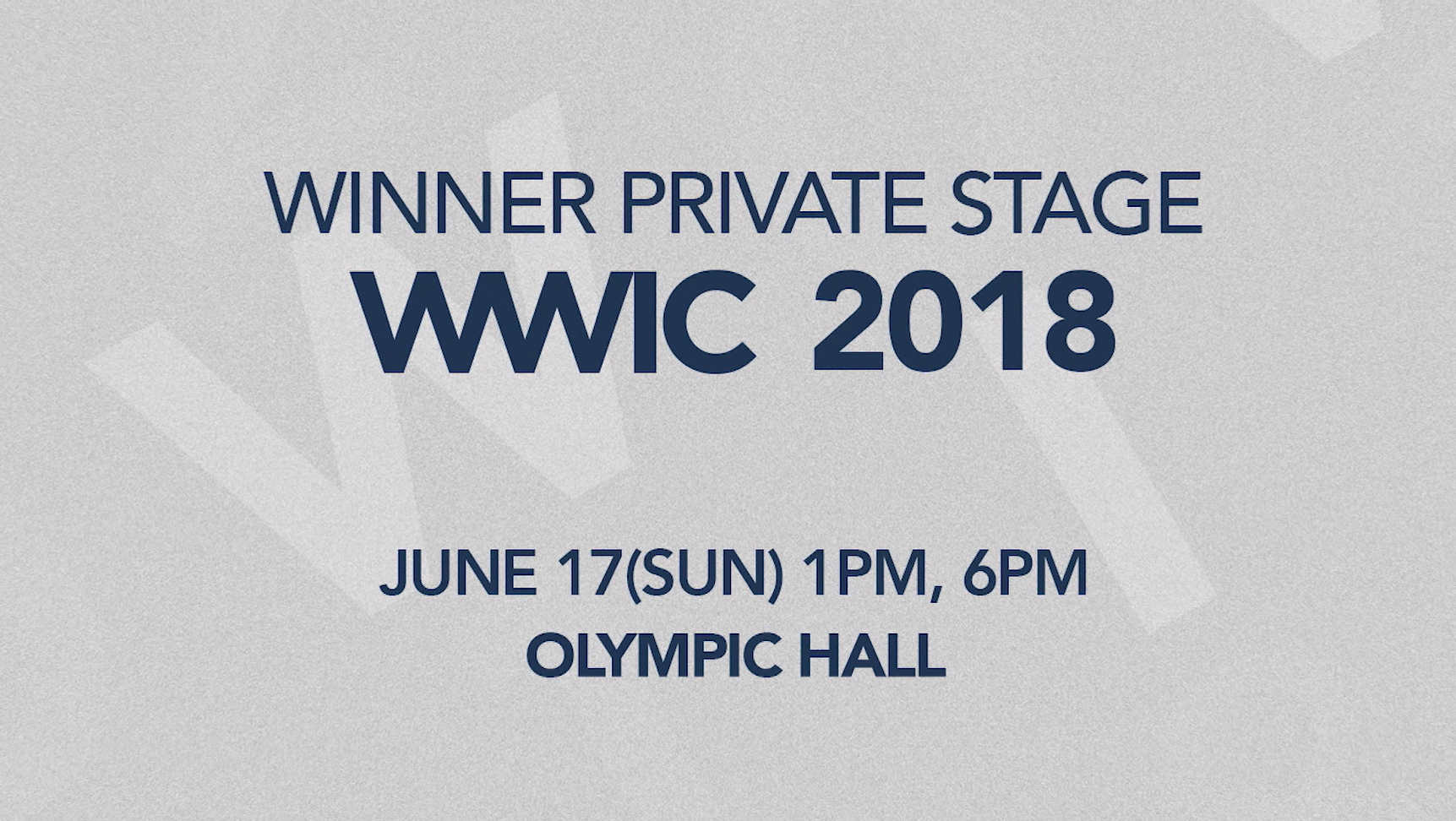WINNER - PRIVATE STAGE [WWIC 2018] SPOT #2