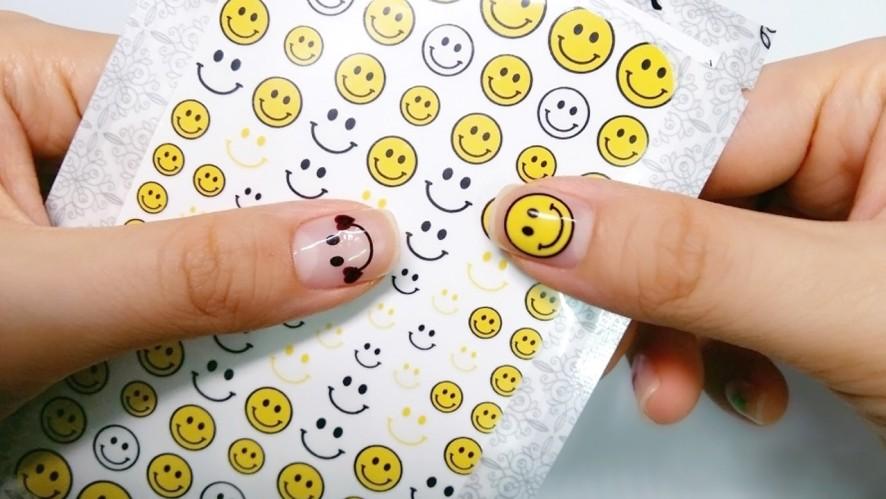 [1분팁] 스마일 네일스티커 셀프젤네일아트하는 법, 2018 여름네일아트 Self-gel nail guide with smile nail stickers