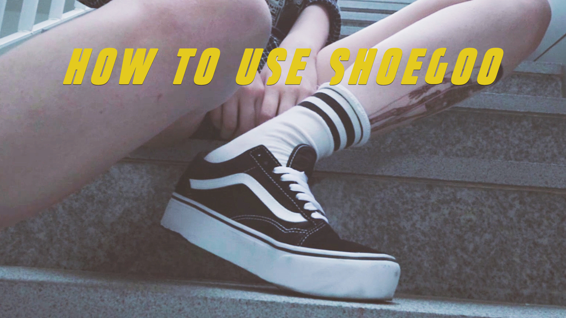 EUNBI✟How to use shoe goo on VANS skate shoes 신발 뒤꿈치 까짐없이 오래신자! 슈구 바르는법