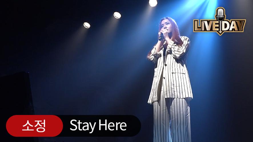 [셀럽티비/라이브데이] 소정 'Stay Here'
