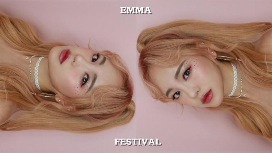 [키라키라 시리즈] #3 페스티벌 글리터 메이크업 Festival Glitter Make-up