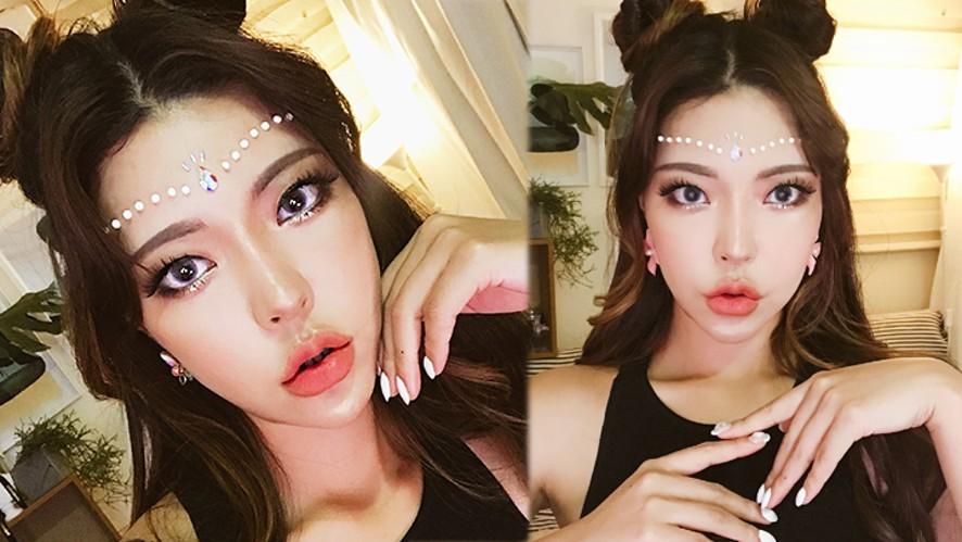 UMF2018 festival makeupGRWM _ 페스티벌 메이크업,화려하게 즐겨봅시다!