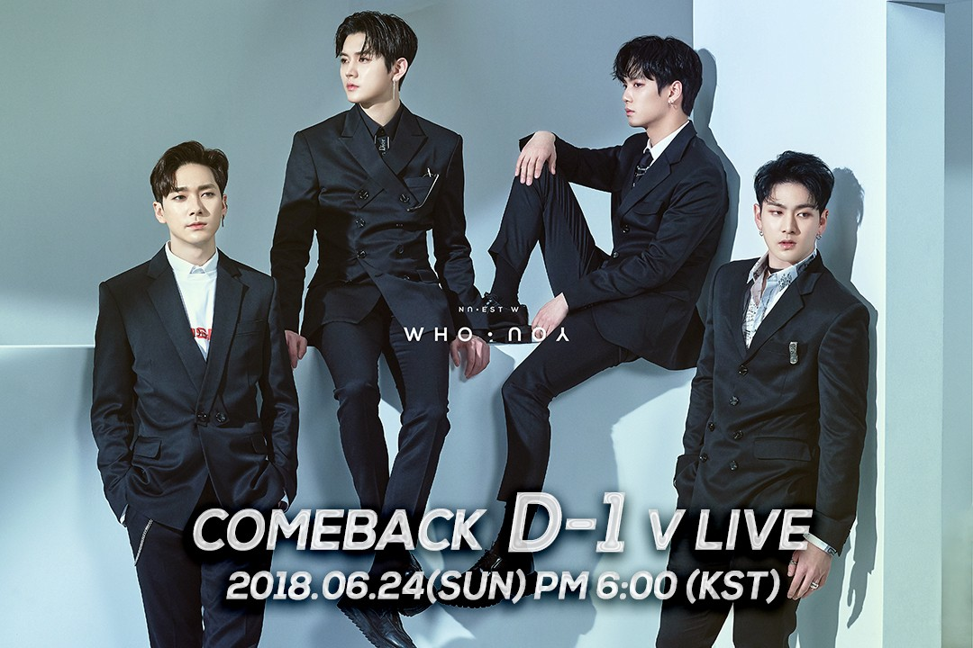 NU'EST W NEW ALBUM 'WHO, YOU' COMEBACK D-1 V LIVE